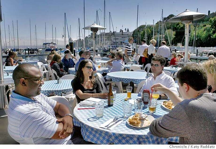 STREETDATE16_001_RAD.jpg  SHOWN: The deck at Sam's Anchor Cafe on Main St. STREETDATE IS THE BLOCK OF MAIN ST. IN TIBURON JUST WEST OF PARADISE DRIVE. (Katy Raddatz/The Chronicle)  ** Mandatory credit for the photographer and the San Francisco Chronicle. No sales; mags out. Photo: Katy Raddatz