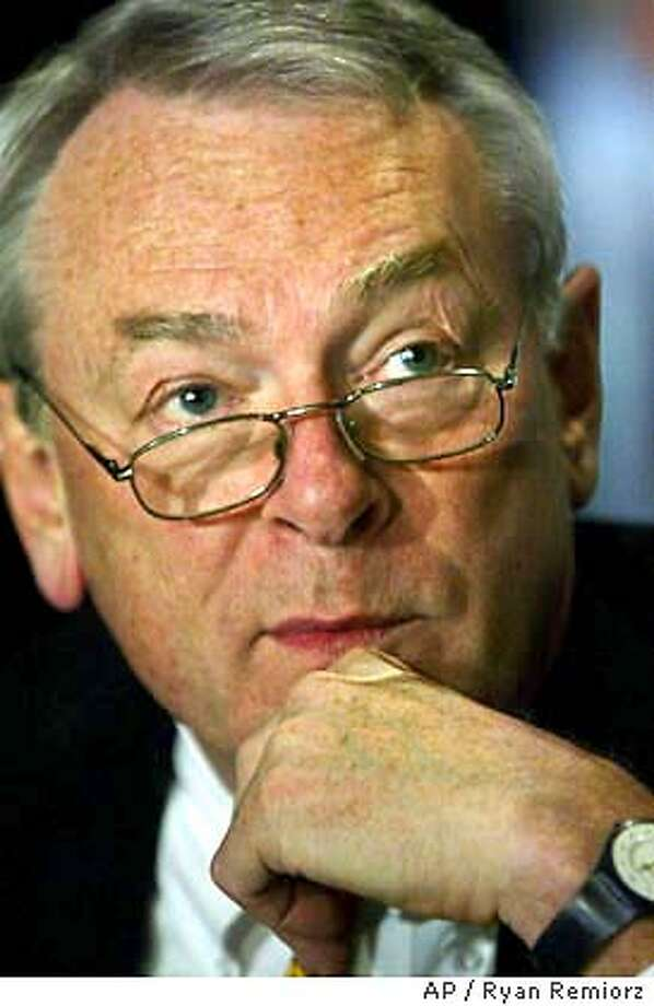 World Anti-Doping Agency chairman Dick Pound speaks to reporters after their executive committee meeting in Montreal, Friday, Nov. 21, 2003. (AP Photo/ Ryan Remiorz) Photo: RYAN REMIORZ