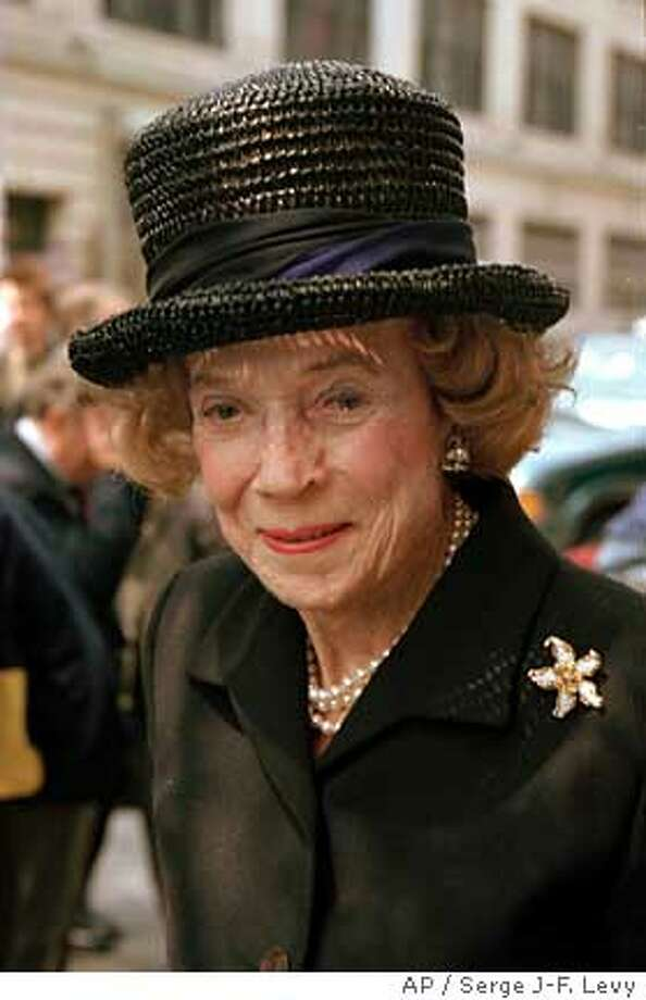 **FILE** Brooke Astor, 95, is seen at the Merchant's House Museum in New York in this May 1, 1997, file photo. Astor, the civic leader, philanthropist and high society fixture who gave away nearly $200 million to support the city's great cultural institutions and a host of humbler projects, died of pneumonia at her suburban estate Monday, Aug. 13, 2007 at 105. (AP Photo/Serge J-F. Levy, File) Photo: Serge J-F. Levy