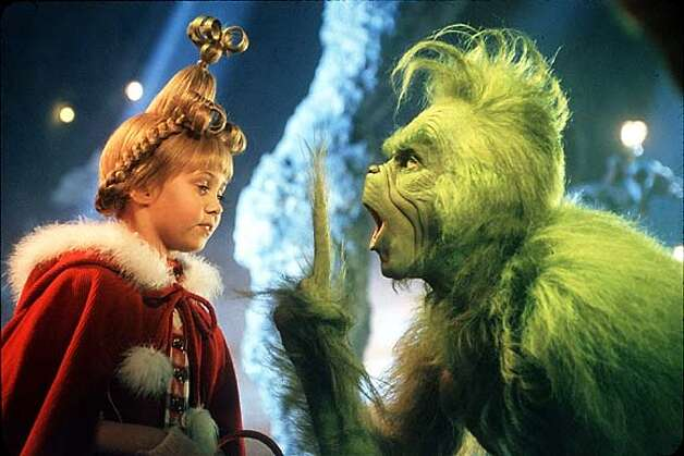 """How the Grinch Stole Christmas"" -- Who wanted this nightmare of a movie? Jim Carrey's Grinch brings the terror of a dozen killer Santas."