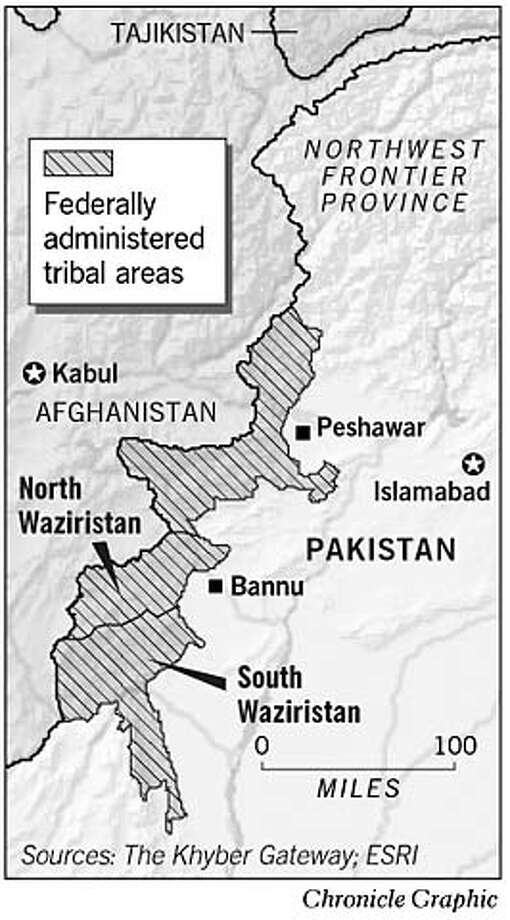 North and South Waziristan. Chronicle Graphic