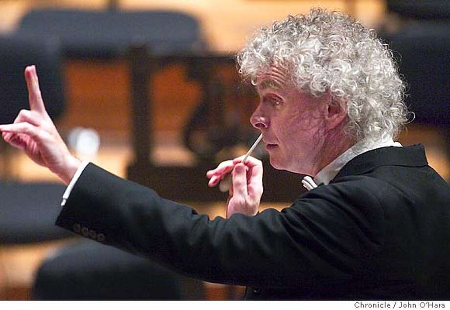 Berlin Philharmonic Orchestra. Simon Rattle Musicl director. photo/John O'Hara Photo: JOHN O'HARA