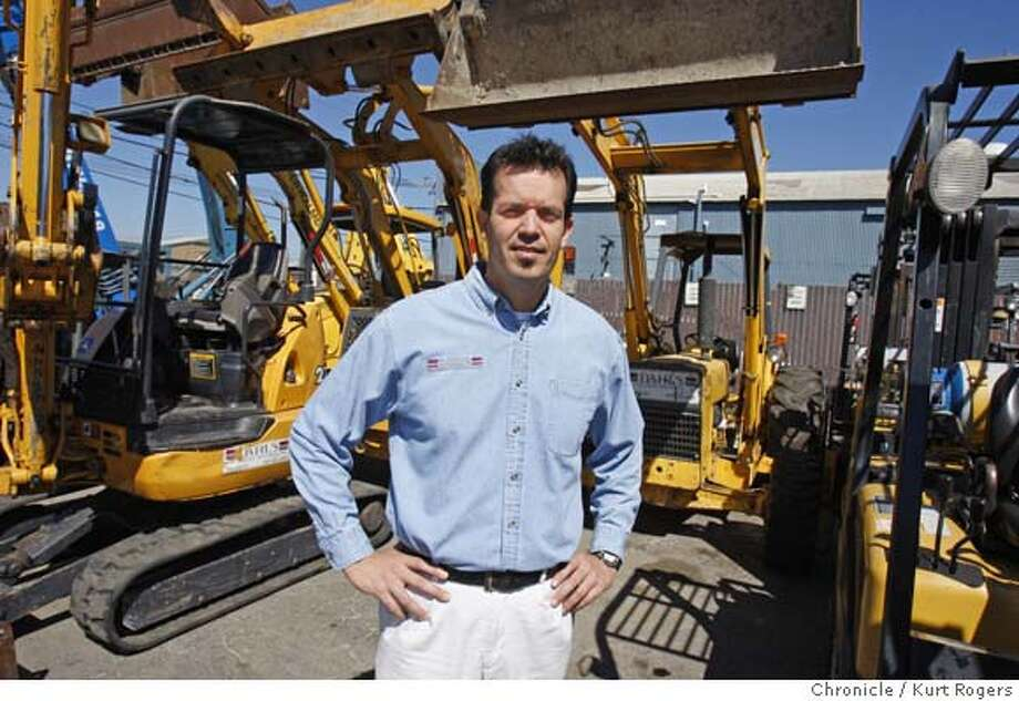 Rich Soltero with Dahl's equipment rentals in San Jose next to some of his company's diesel equipment.  New rules approved by California to reduce air pollution and fight global warming will cause Some construction equipment rental firms to sell off some of their older dieseal equipment to to nations with less stringent rules.  FRIDAY, AUG 10, 2007 KURT ROGERS SAN JOSE SFC  THE CHRONICLE DIESEL_0019_kr.jpg MANDATORY CREDIT FOR PHOTOG AND SF CHRONICLE / NO SALES-MAGS OUT Photo: KURT ROGERS