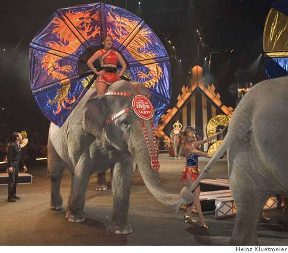 1Ringling Bros.  Ran on: 08-12-2007  &quo;The Greatest Show on Earth&quo; will be in Oakland starting Thursday.  Ran on: 08-12-2007  &quo;The Greatest Show on Earth&quo; will be in Oakland starting Thursday. Photo: Heinz Kluetmeier