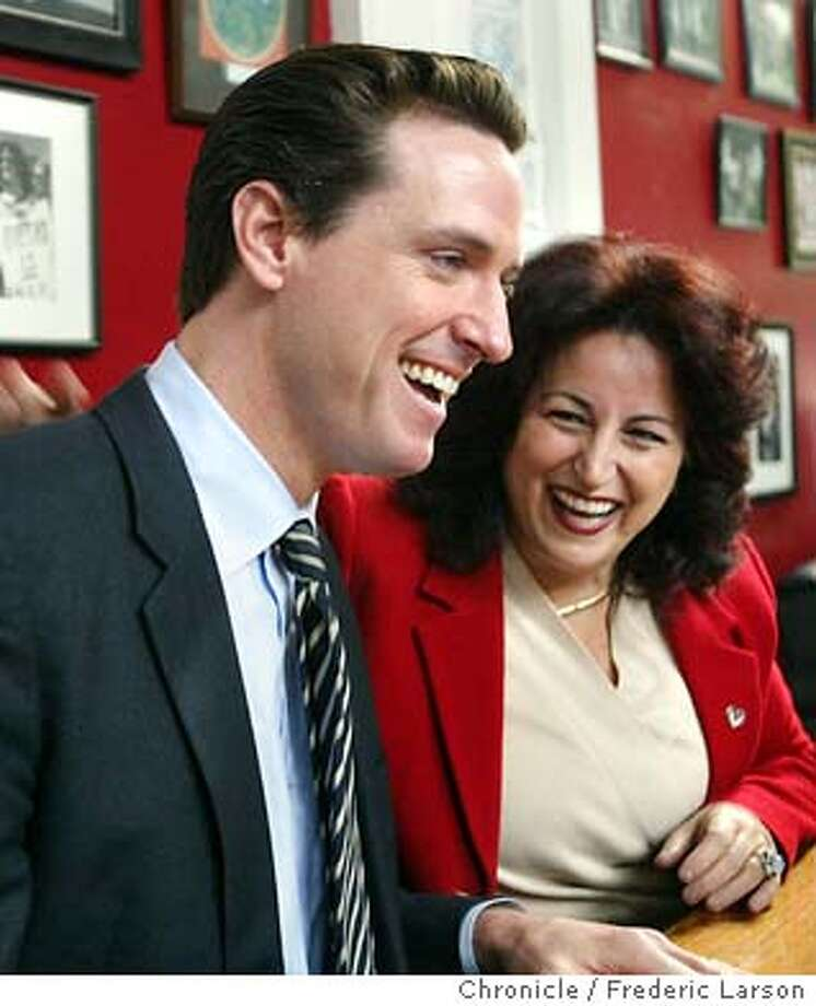 ; Angela Alioto, who came in third in the San Francisco mayor's race, announced her endorsement of Gavin Newsom at her office, 700 Montgomery Street in SF., during a press conference.  The Chronicle; Photo: FREDERIC LARSON