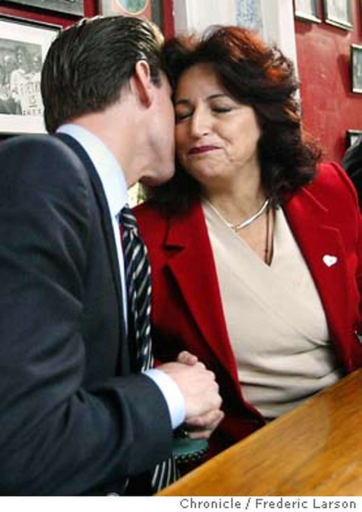 ; Angela Alioto, who came in third in the San Francisco mayor's race, announced her endorsement of Gavin Newsom at her office, 700 Montgomery Street in SF., during a press conference. The Chronicle;