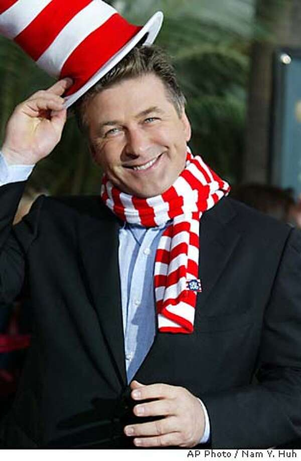 """Actor Alec Baldwin, star of the new family comedy film """"Dr. Seuss' The Cat In The Hat"""" arrives for the film's premiere, Saturday, Nov. 8, 2003, at Universal Studios in the Hollywood section of Los Angeles. (AP Photo/Nam Y. Huh) Photo: NAM Y. HUH"""
