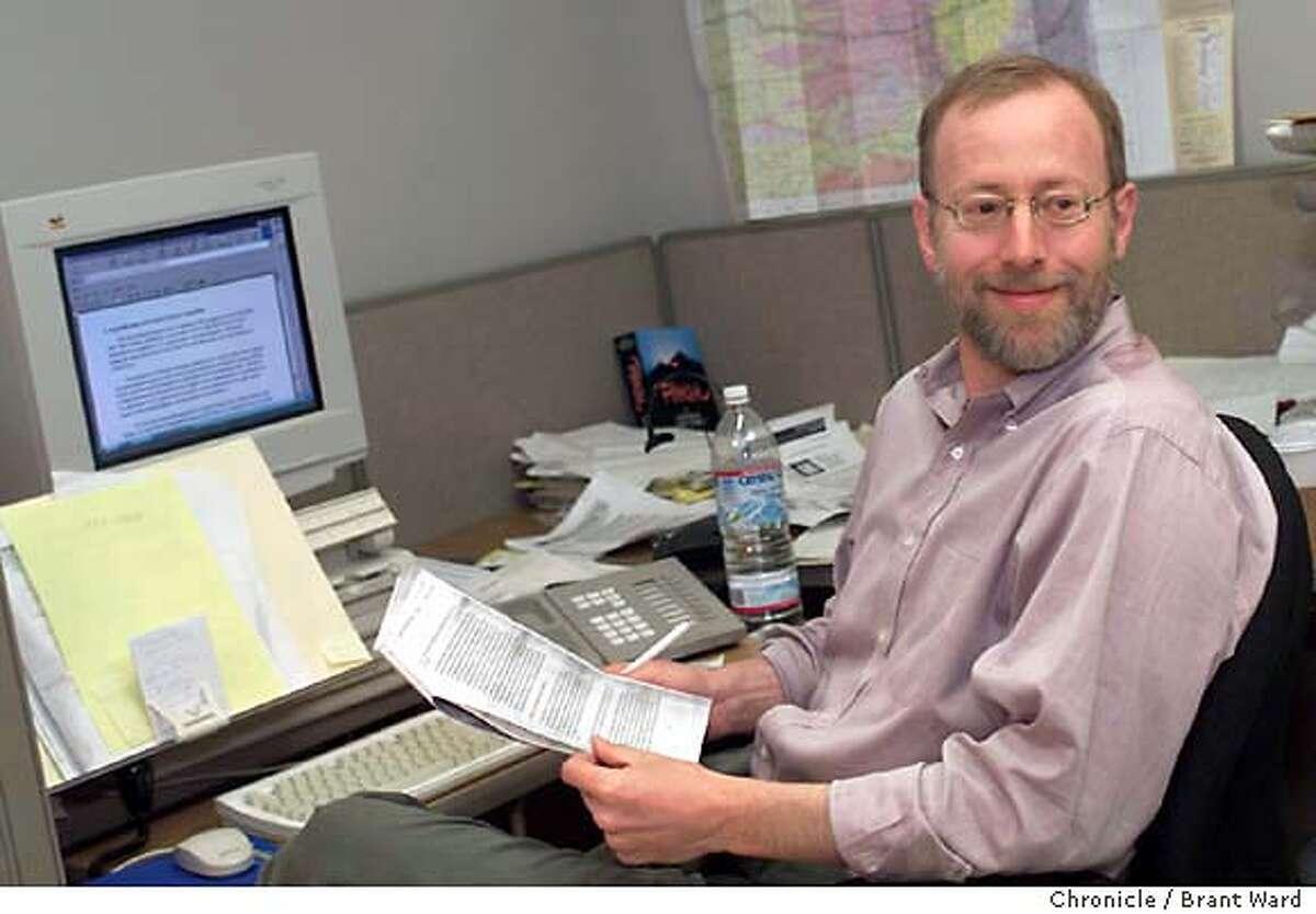 ROSENFELD-19JUN01-MT-BW--Chronicle reporter Seth Rosenfeld in his office. By Brant Ward/Chronicle CAT