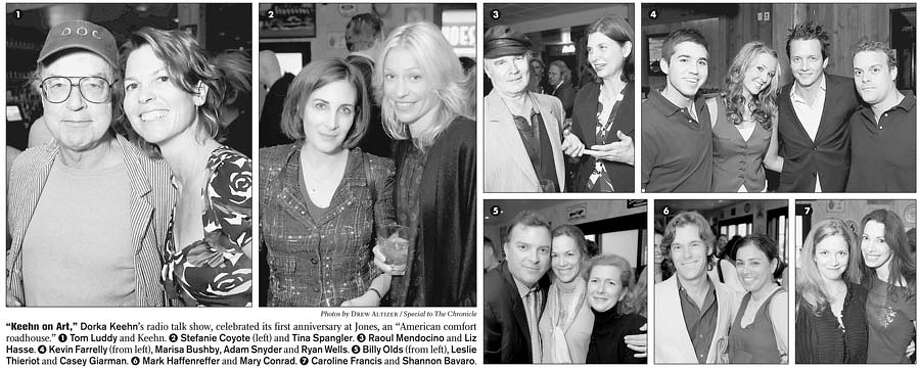 """""""Keehn on Art,"""" Dorka Keehn's radio talk show, celebrated its first anniversary at Jones, an """"American comfort roadhouse."""" Photos by Drew Altizer, special to the Chronicle"""