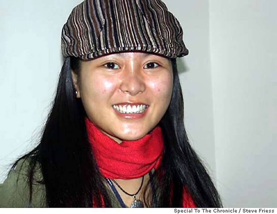 for CHINA; Mugshot of Hao Lulu, 24, of Beijing, who is undergoing�14�plastic surgeries over six months for free as a publicity stunt for a Beijing clinic called Evercare. Steve Friess, / Special To The Chronicle Photo: Steve Friess