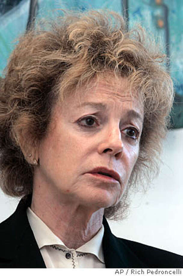 State Sen. Carole Migden, D-San Francisco, discusses the auto accident she had last week, during an interview with the Associated Press in her Capitol office in Sacramento, Calif., Thursday, May 24, 2007. Migden, whose wild ride on Interstate 80 triggered several 911 calls and concluded with a crash that injured another motorist, said Wednesday that her erratic driving may have been caused by medication she is taking for leukemia. (AP Photo/Rich Pedroncelli) Photo: Rich Pedroncelli