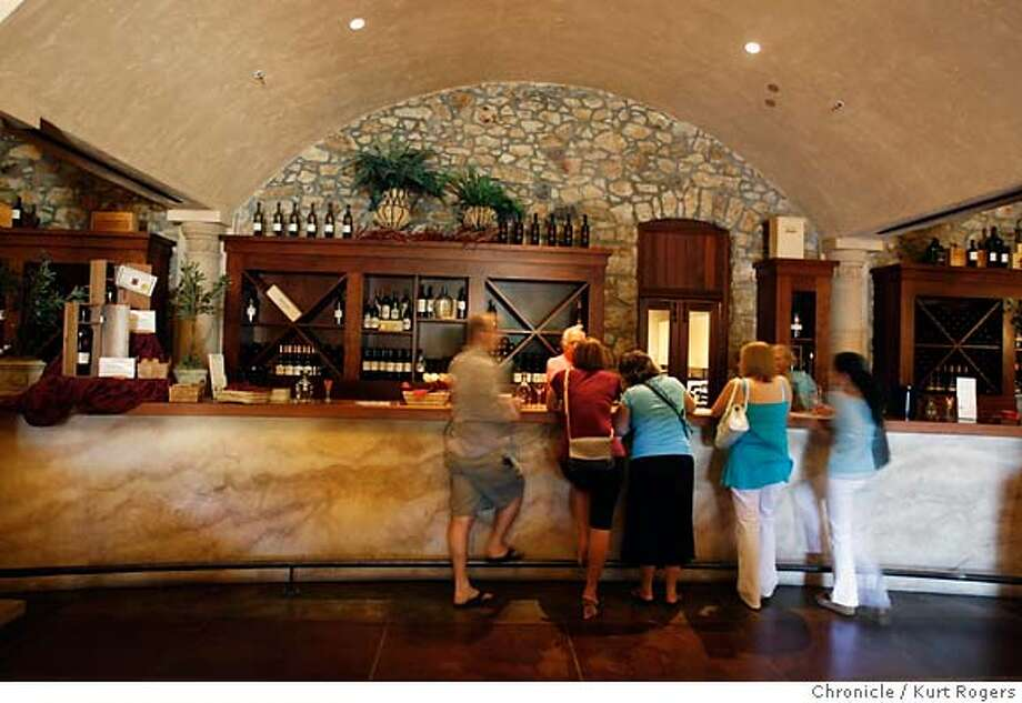 The tasting room at Sebaastiani Vineyards Three tasting rooms 1 Sebastiani, 2 Ridge. 3 Dry Creek.  SATURDAY, JUNE 23, 2007 KURT ROGERS SONOMA SFC  THE CHRONICLE TASTINGROOM130127_kr.jpg MANDATORY CREDIT FOR PHOTOG AND SF CHRONICLE / NO SALES-MAGS OUT Photo: KURT ROGERS