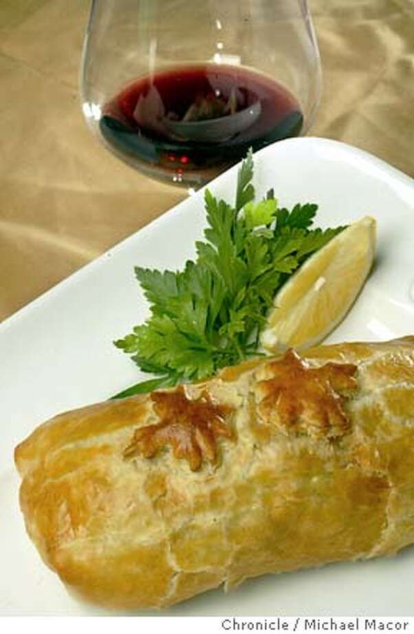 pairings029_mac.jpg Salmon stuffed pastry, a pairing with Carneros Pinot Noir.  11/12/03 in STUDIO. MICHAEL MACOR/ The Chronicle Photo: MICHAEL MACOR