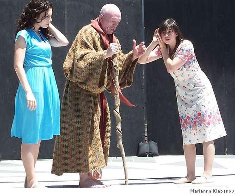 "� Brianna Anthony, Skip Emerson and Emily Rued in Pangs Theater Ensemble's ""Lamb"". Photo: Marianna Klebanov"