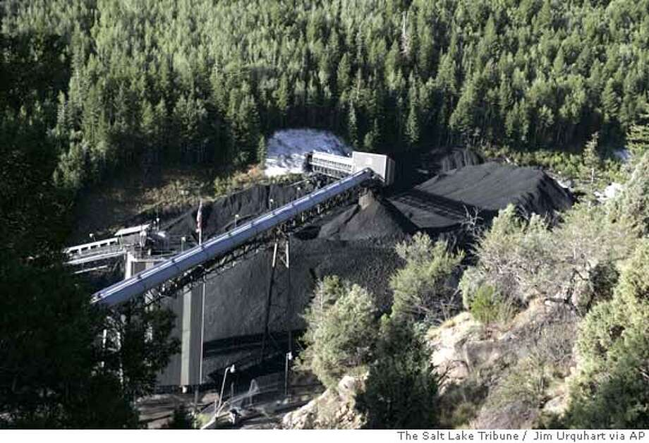 The Crandall Canyon Mine in in Huntington, Utah, is shown Tuesday, Aug. 7, 2007. With rescuers still at least three days away from reaching six trapped coal miners, the mine's owner and the government split sharply Tuesday over whether an earthquake caused the cave-in and whether the men were engaged in an often-dangerous form of mining . (AP Photo/The Salt Lake Tribune, Jim Urquhart) ** DESERET MORNING NEWS OUT * DESERET MORNING NEWS OUT Photo: Jim Urquhart