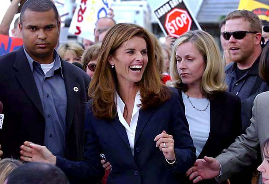 For HOTSTUFF24, home ; Maria Shriver at Wal Mart in Sacramento ; on 9/8/03 in . / HO