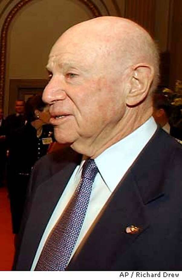 ** FILE PHOTO ** Laurence Tisch is shown in this file photo from Feb. 1, 2001 during a visit to the New York Stock Exchange. Tisch, the Loews Corp. co-founder who built an enormous financial empire that began with a single New Jersey resort, died Saturday in Manhattan. He was 80. (AP Photo/Richard Drew) FILE PHOTO Photo: RICHARD DREW