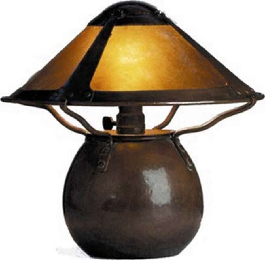 Dirk Van Erp arts and crafts lamp, on exhibit at Arts and Crafts Show Photo: Handout