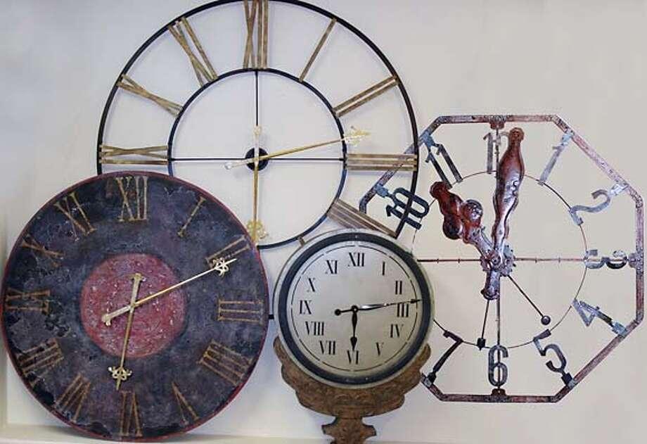 Custom clocks at Design Quarter, SF Photo: Danilo Quito