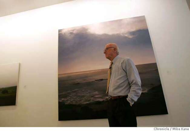 "SFMUSEUM08_006_MBK.JPG  Gap founder Don Fisher stands in front ""Seascape"" by Gerhard Richter, in one of Fisher's galleries at the Gap headquarters in San Francisco, CA, on Tuesday, August, 7, 2007. photo taken: 8/7/07  Mike Kane / The Chronicle *Don Fisher MANDATORY CREDIT FOR PHOTOG AND SF CHRONICLE/NO SALES-MAGS OUT Photo: MIKE KANE"