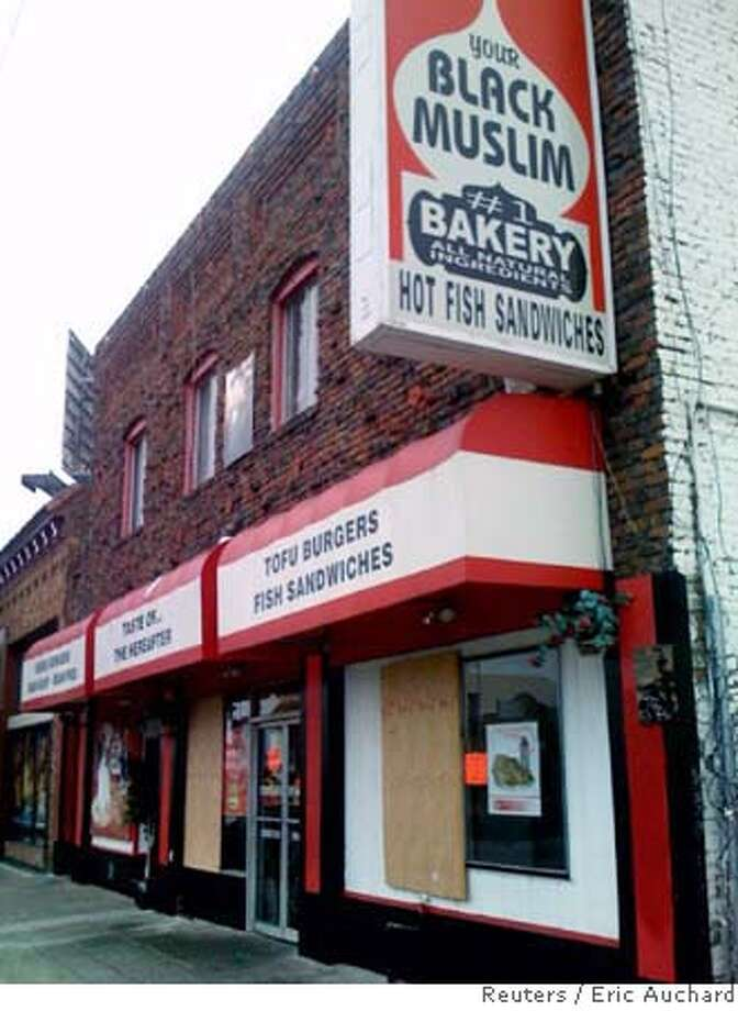 Your Black Muslim Bakery is seen in North Oakland, California, in this August 5, 2007 picture. The bakery was the cornerstone establishment of a local self-help group that has been implicated by Oakland police in the murder of local journalist Chauncey Bailey, the editor-in-chief of the Oakland Post. The bakery was one of several establishments owned by the group which was raided by 200 police on August 3, who detained seven suspects, including one who later confessed to murdering Bailey. REUTERS/Eric Auchard (UNITED STATES) Photo: STAFF