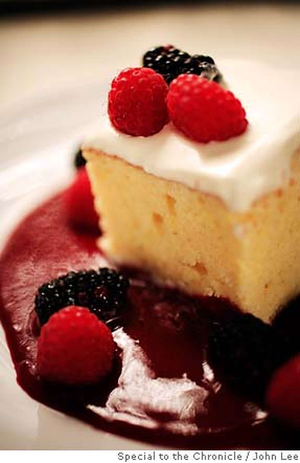 SOUTH01_02_JOHNLEE.JPG Tres Leches cake. By JOHN LEE/SPECIAL TO THE CHRONICLE
