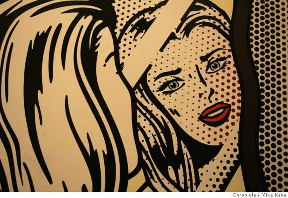 """SFMUSEUM08_008_MBK.JPG """"Nude at Vanity,"""" a work done in 1994 by Roy Lichtenstein, stands on display in Gap founder Don Fisher's vast collection at the Gap headquarters in San Francisco, CA, on Tuesday, August, 7, 2007. photo taken: 8/7/07 Mike Kane / The Chronicle *Don Fisher MANDATORY CREDIT FOR PHOTOG AND SF CHRONICLE/NO SALES-MAGS OUT"""