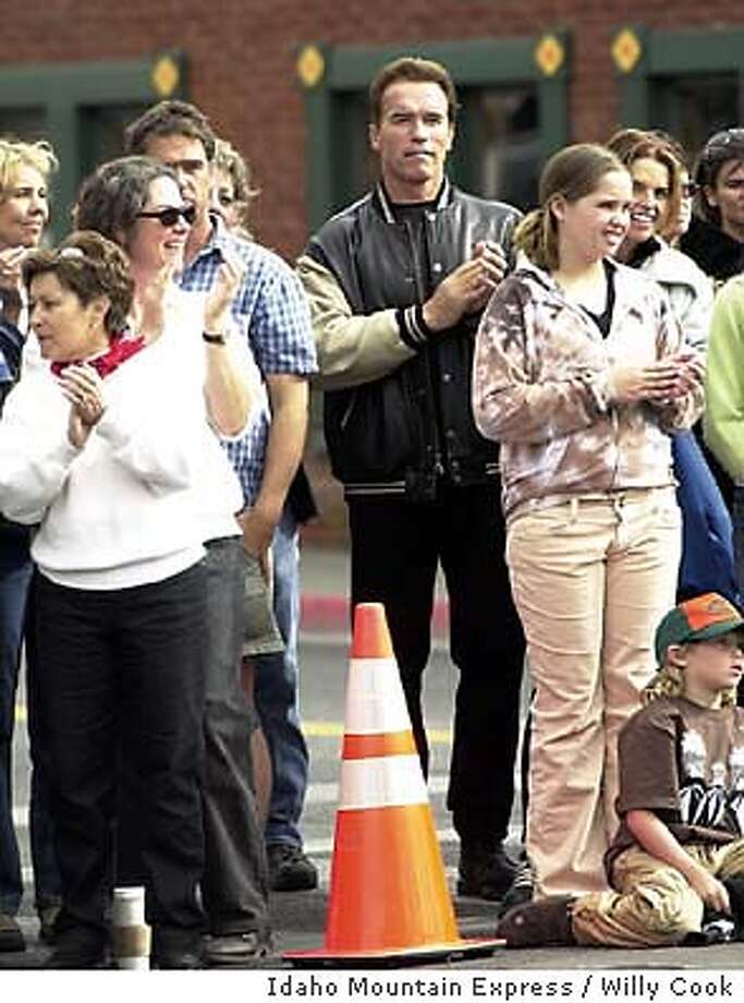 Schwarzenegger_Arnold.jpg Arnold Schwarzenegger at Trailing of the Sheep Festival, Ketchum, Id., Sunday, Oct 12 with wife Maria. Photo by Willy Cook, Idaho Mountain Express / Idaho Mountain Express Photo: Photo By Willy Cook