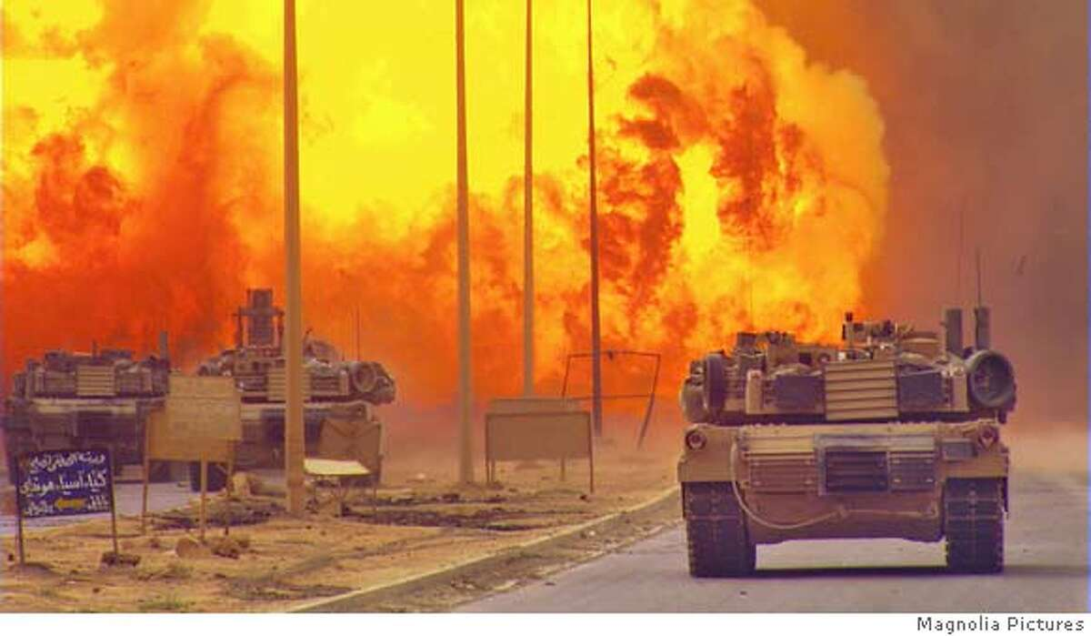 Scenes of Iraq war from NO END IN SIGHT, directed by Charles Ferguson, a Magnolia Pictures release. Photo courtesy of Magnolia Pictures.