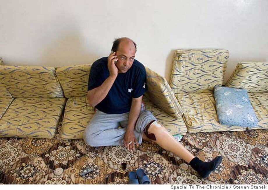 Sharif Kassem-Habib, 39, lost his leg when he stepped on an antipersonnel mine in 1974. He is still waiting to be registered for government assistance. Steven Stanek Special To The Chronicle Photo: Steven Stanek