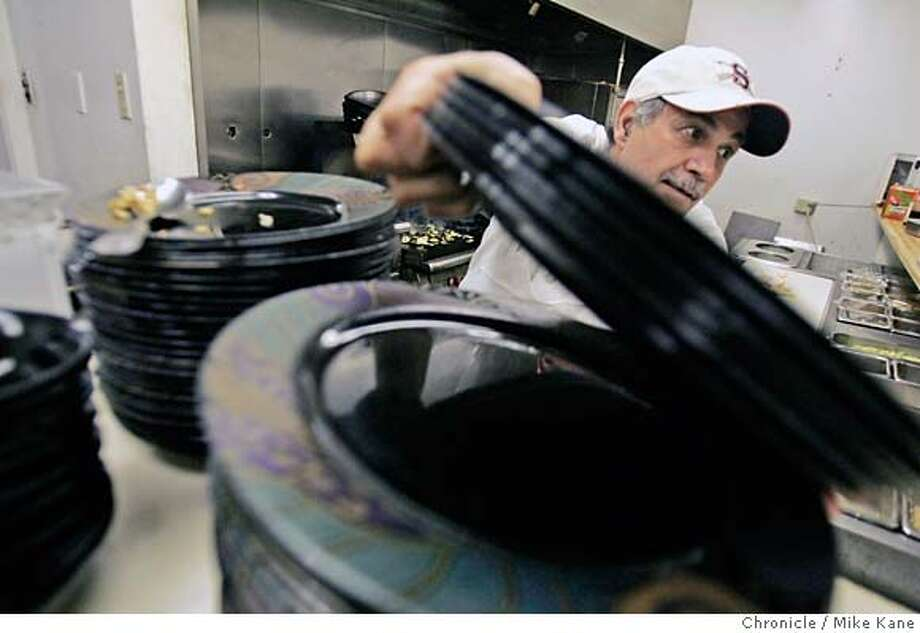 CURIEL_Salih_005_MBK.JPG  Iraqi-born Yahya Salih does dinner prep work in the kitchen of his Mesopotamian food restaurant on Van Ness in San Francisco, CA, on Tuesday, July, 31, 2007. photo taken: 7/31/07  Mike Kane / The Chronicle **Yahya Salih MANDATORY CREDIT FOR PHOTOG AND SF CHRONICLE/NO SALES-MAGS OUT Photo: MIKE KANE