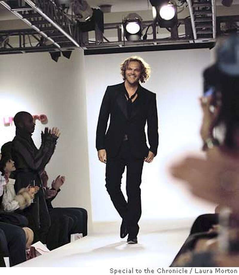Emanuel Ungaro creative director Peter Dundas after a show for the label at Neiman Marcus in San Francisco, CA. (Laura Morton/Special to the Chronicle)  Ran on: 06-01-2007  Peter Dundas, Emanuel Ungaro's new creative director, after the show. Photo: Laura Morton