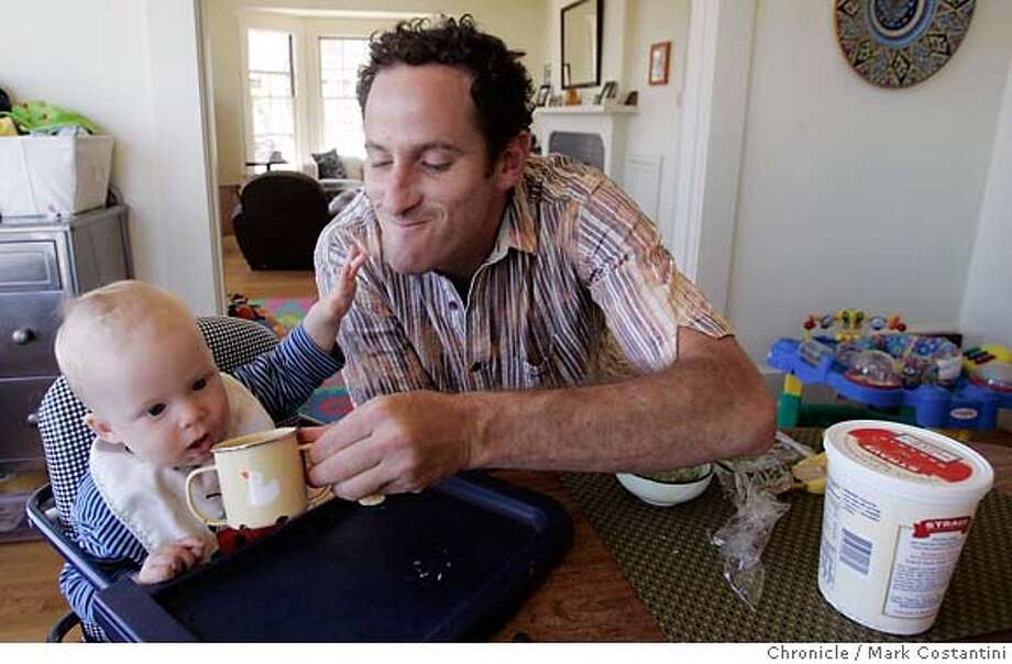 "We are doing a story about male nannies, AKA ""mannys."" One is Jeremy Potter(pictured here), who works as a manny in SF.He works for Mary Inman and her 8-month old kid, devon.  PHOTO: Mark Costantini / The Chronicle MANDATORY CREDIT FOR PHOTOGRAPHER AND SAN FRANCISCO CHRONICLE/NO SALES-MAGS OUT Photo: MARK COSTANTINI"