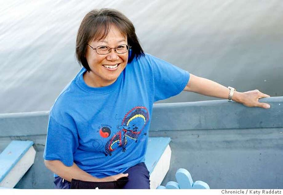 Christine Yee started a dragon boat racing team for her Kaiser Permanente co-workers. Chronicle photo by Katy Raddatz