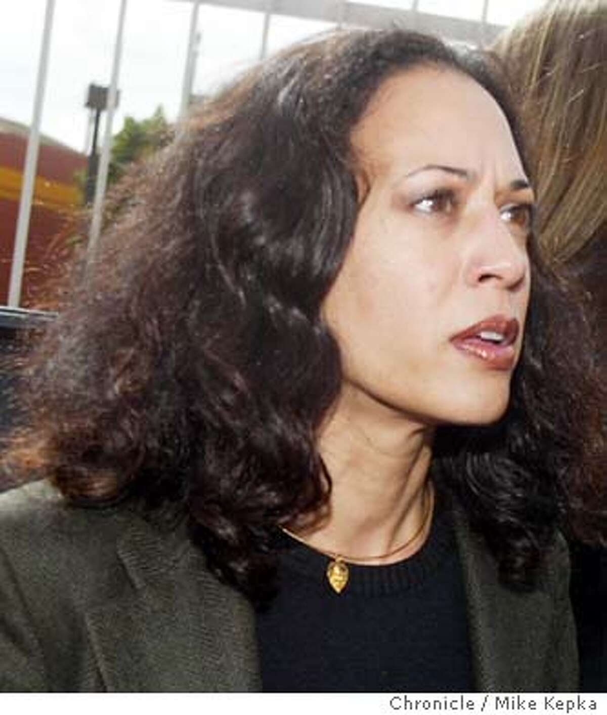 harris0030_mk.jpg Kamala Harris meets with supporters in front of the 24th street BART station while on the campain trail with Cruz Bustamonte. Harris is running for District Attorney in San Francisco. 10/4/03 in San Francisco MIKE KEPKA/The San Francisco Chronicle