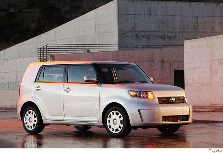 This undated photo provided by Scion, shows the 2008 Scion xB. (AP Photo/Scion, Toyota/Wieck)  Ran on: 06-03-2007 Ran on: 06-03-2007 Ran on: 06-03-2007 Ran on: 06-03-2007 Ran on: 08-04-2007  Mark Templin, Scion vice president, talks up the 2008 Scion xB during the Chicago Auto Show. Photo: Toyota, Wieck