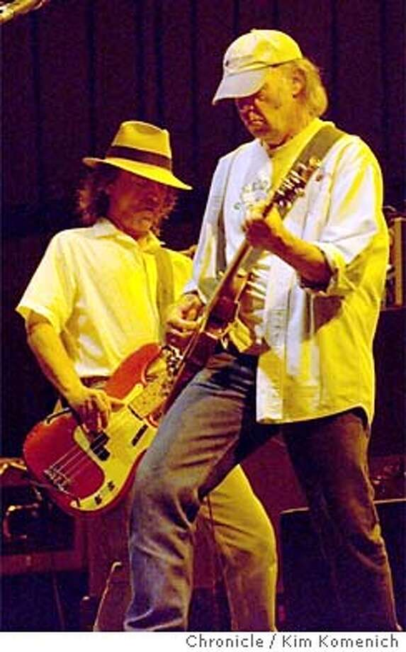 """YOUNG21_106_kk.jpg  Neil Young and Crazy Horse perform """"Greendale"""" at the Shoreline Amphitheater.  KIM KOMENICH/ The Chronicle CAT MANDATORY CREDIT FOR PHOTOG AND SF CHRONICLE/ -MAGS OUT Photo: KIM KOMENICH"""