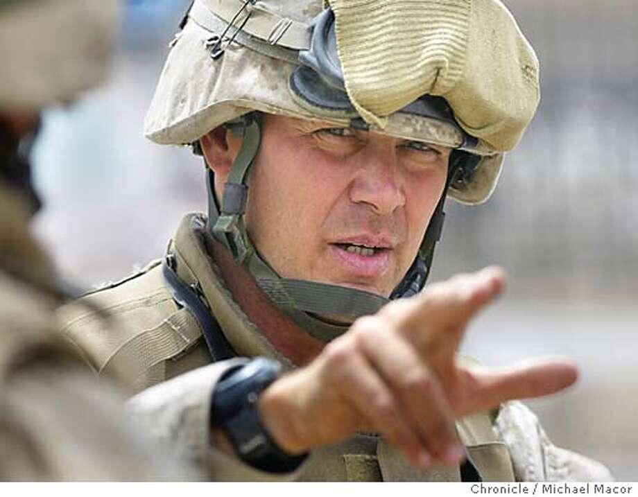 IRAQ1-C-13APR03-MT-MAC FOR A JOHN KOOPMAN STORY. Lt. Col. Bryan McCoy commander of the 3rd Battalion 4th Marine Regiment. by Michael Macor/The Chronicle Photo: MICHAEL MACOR