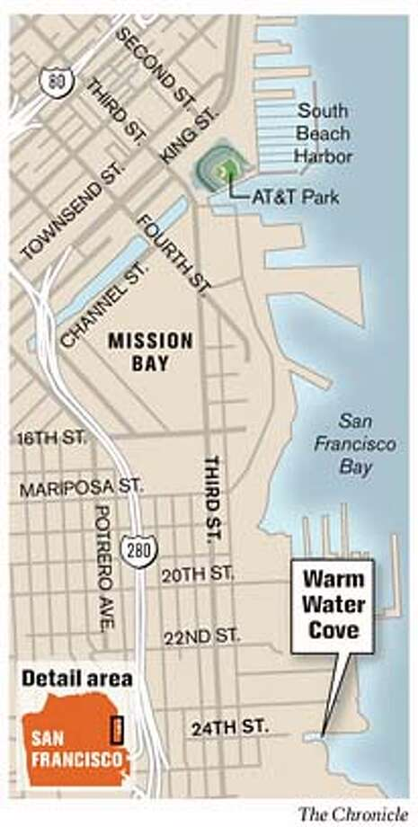 Warm Water Cove. Chronicle Graphic