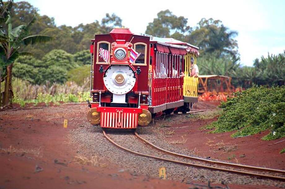 TRAVEL HAWAII -- The Pineapple Express train gives a narrated tour of Dole Plantation in Wahiawa, Oahu. Photo: Jeanne Cooper