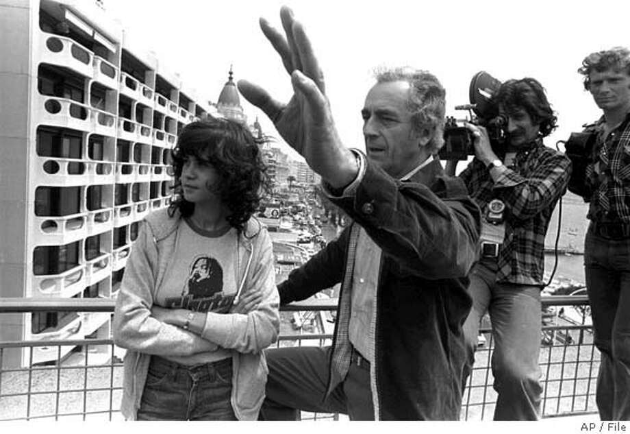 **FILE** Italian movie director Michelangelo Antonioni is seen in this undated picture in Cannes, France. Antonioni died Monday, July 30, 2007. He was 94 years old. (AP Photo) FILE Photo: AP