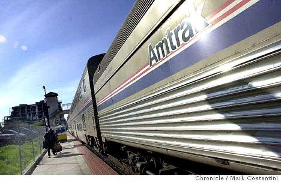 TRAVEL MONUMENTS AMTRAK -- Exterior of Amtrak's California Zephyr, threatened with elimination this fall under possible new Amtrak budget cutbacks.  Mark Costantini/The Chronicle (file photo) The tiny islands of Tuvalu could vanish under a rising sea by the end of the century, according to some predictions. Its leaders hope to buy another island with revenue from selling its Internet suffix. Photo: MARK COSTANTINI