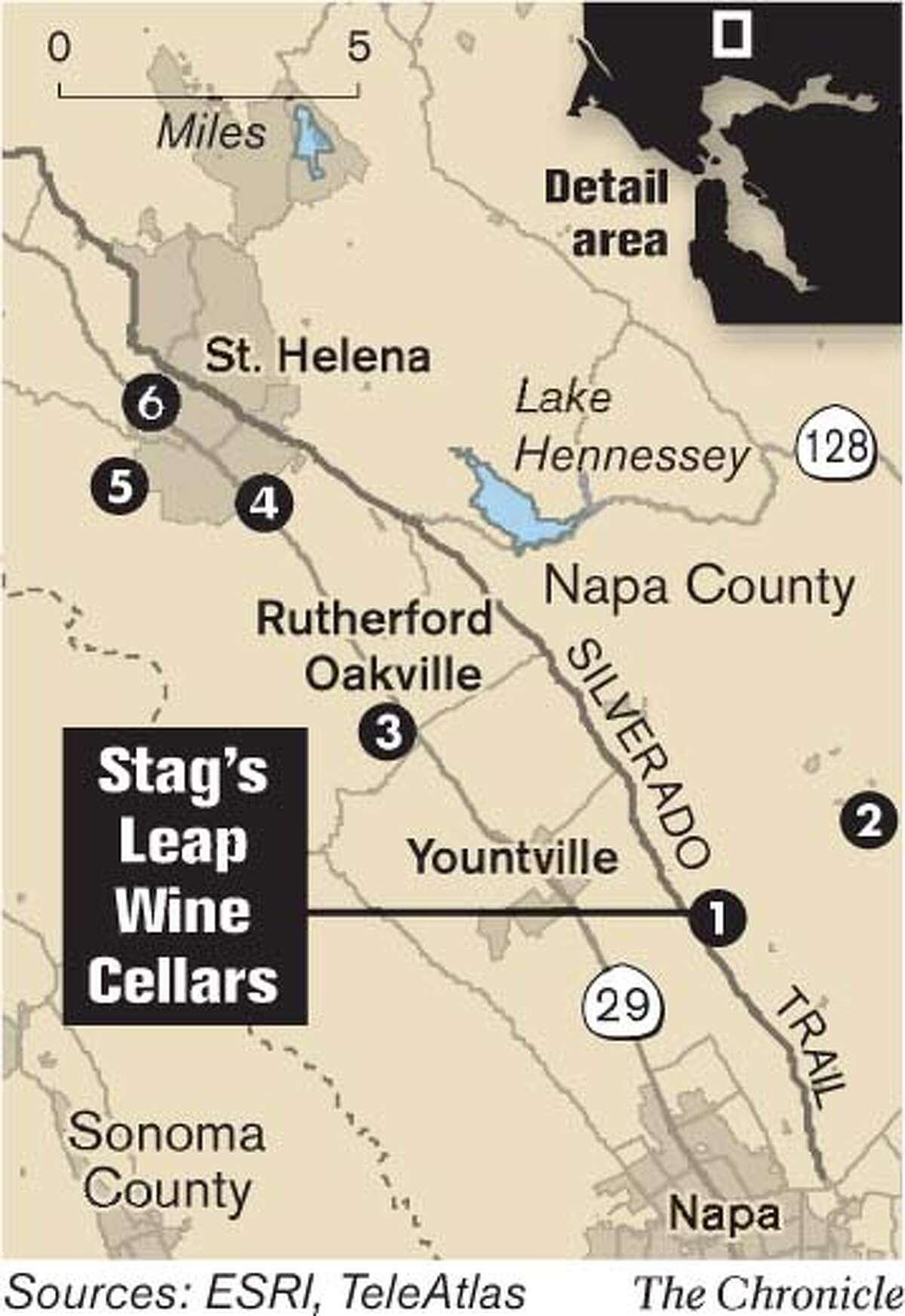 Stag's Leap Wine Cellars. Chronicle Graphic