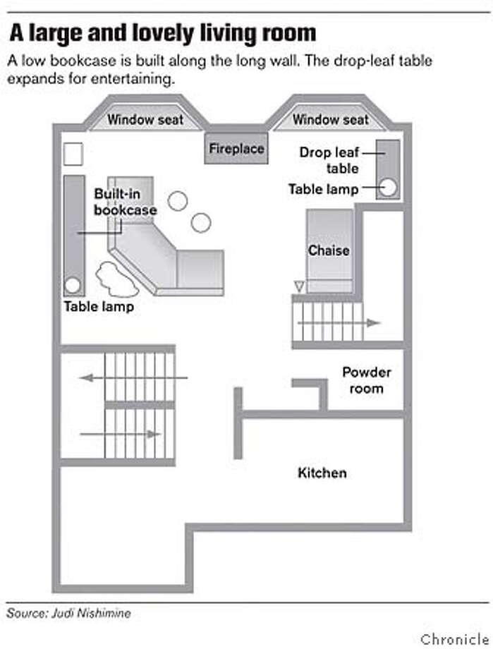 A Large and Lovely Living Room. Chronicle Graphic