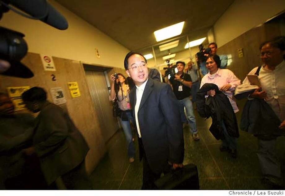 edjew28_0089_ls.JPG  Ed Jew leaves Department 20 at the Hall of Justice on Monday, July 30, 2007. Photo taken on 073007 in San Francisco, CA.  Photo by Lea Suzuki/ The Chronicle  (Ed Jew)cq MANDATORY CREDIT FOR PHOTOG AND SF CHRONICLE/NO SALES-MAGS OUT. Photo: Lea Suzuki