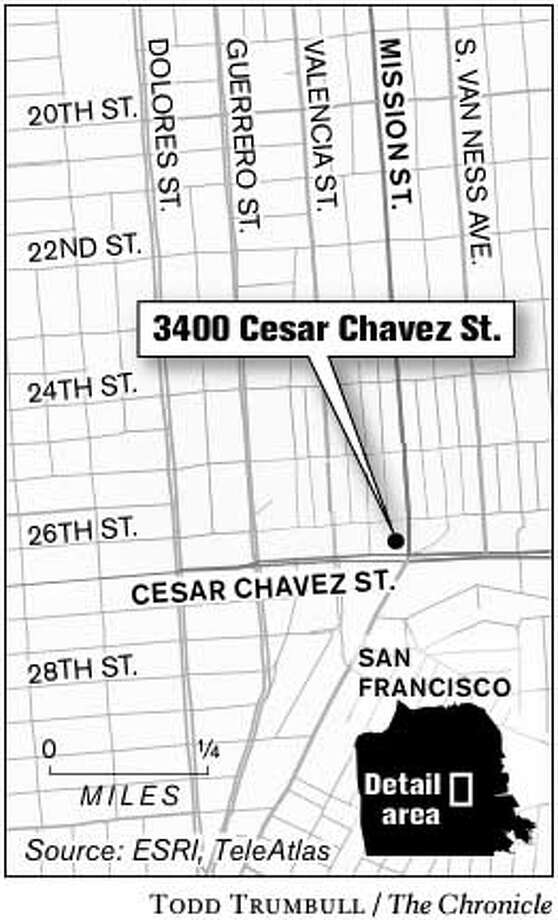 3400 Cesar Chavez St. Chronicle graphic by Todd Trumbull