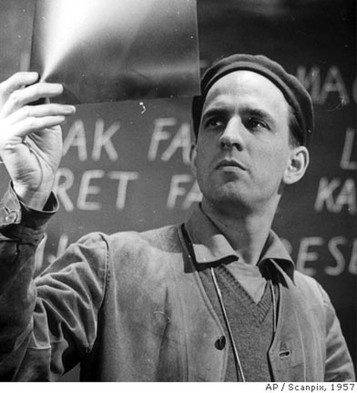 ** FILE ** Legendary Swedish film director Ingmar Bergman, is seen in Stockholm, Sweden, in this file photo dated 1957. Ingmar Bergman has died, Swedish news agency TT reported July 30, 2007. He was 89 years old. (AP Photo / Scanpix, File) **SWEDEN OUT **