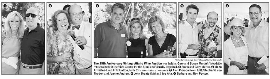 The 25th Anniversary Vintage Affaire Wine Auction was held at Gary and Susan Martin's Woodside estate to benefit the Vista Center for the Blind and Visually Impaired. Photos by Caroline Kopp, special to the Chronicle