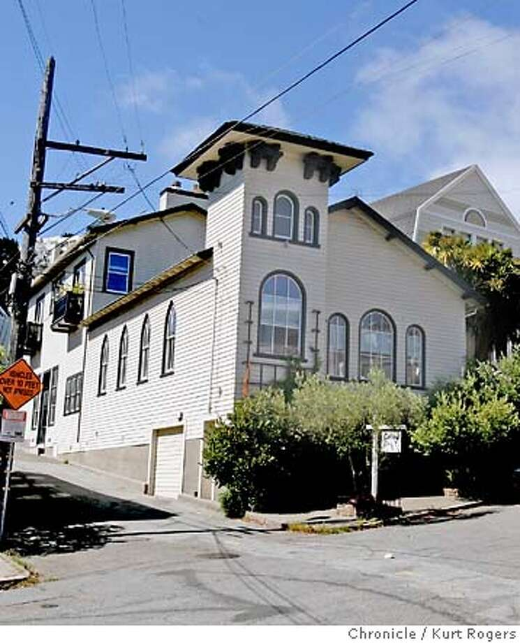 """This church that became a synagogue eventually got remodeled into a home, thanks to the """"This Old House"""" television show. Chronicle photo by Kurt Rogers"""