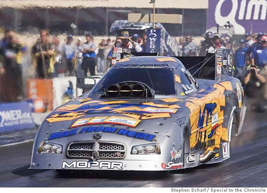 Drag racer Jack Beckman qualifies at the FRAM Autolite NHRA Nationals at Infineon Raceway.  Photo by Stephen Scharf/Special to the Chronicle � Photo: Adfad